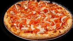 Promo lanzamiento pizza + gaseosa + deditos de queso