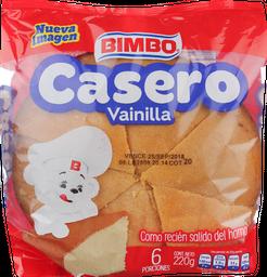 Pan Casero Bimbo vainilla