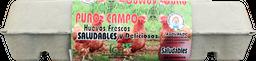 Huevos Orgánicos Rojo Aa 12 Unidades La Granja