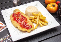 Filete de pescado en salsa agridulce
