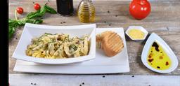 🍝 Pasta con Pavo y Champiñones