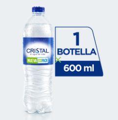 Botella de Agua Cristal 600 ml.