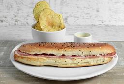 Sándwich con Salmón Ahumado