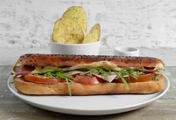 Sándwich con Pavo y Salami