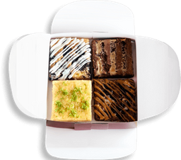 Caja de 4 brownies