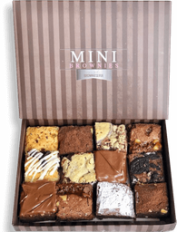 Caja 12 mini brownies