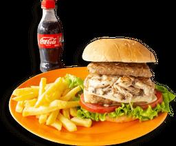 Hamburguesa Sencilla Doble Carne en Combo