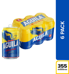 Cerveza Aguila Original - Lata 355ml x6