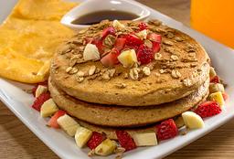 Pancakes light + Huevos
