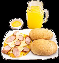Huevos con Chorizo y Queso