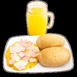 Huevos con Jamón y Queso