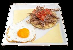 Arepa Huevos, Queso Carne