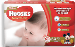 HUGGIES PANAL NATURAL CARE MEDIANO 50 UNISEX
