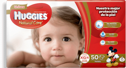 HUGGIES PANAL NATURAL CARE EXTRA GRANDE X50 UNISEX