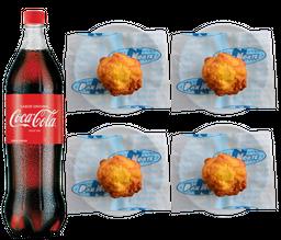 4 Papas Rellenas + Coca-Cola 1,25 litros