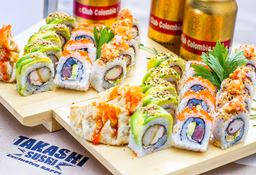 Promo 30 Rolls o Makis + 4 Gyozas + 3 Club Colombia