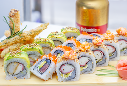 Promo 15 Rolls o Makis + Vegetales + Club Colombia
