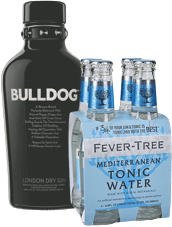 Rappicombo Ginebra Bulldog 750ml + 4 pack Fever Tree Tónica