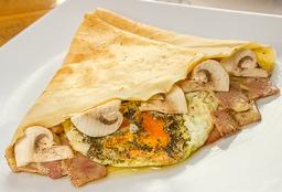 Mozzarella con jamón y tomates frescos
