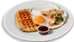 Waffle doble Queso con Huevos