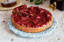 Torta Mediana Melcochuda con Frutos Rojos