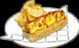 Hot Dog Queso Tocineta