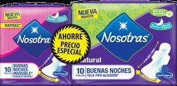 Toal.Hig. Buenas Noches Rapisec x10un+Toal.BuenasNochesx10un