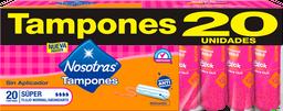 Tampones Sin Aplicador Nosotras Super x 20und