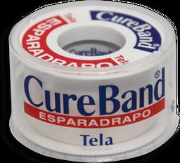 Cureband Esparadrapo Tela 1x5 Yardas Estuche 1 Unidad