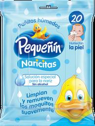 Toallitas Húmedas Pequeñín Naricitas X20 Und