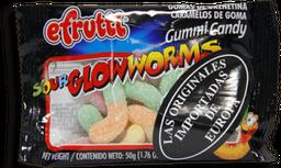 Gomas Sour Glowworms X50Grm.Efrutti