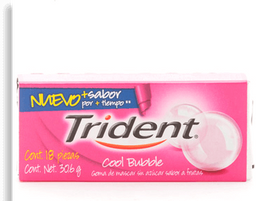 Trident Chicle Sin Azúcar Sabor Coolbubble Pack