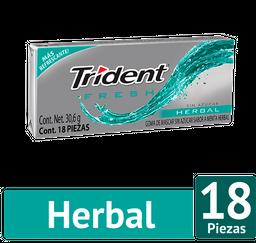 Chicle Trident Sin Azúcar Sabor Fresh Herbal Pack 30,6Gr