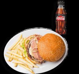 🍔Combo DÚO Hamburguesa + Papas y Gaseosa