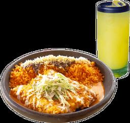 3 Enchiladas + Arroz + Bebida