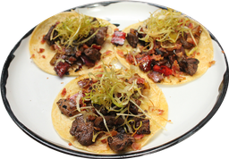 Tacos de alambre de res