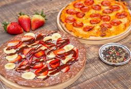 Pizza Clásica Personal + Pizza Nutella