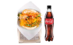 Bao Crunchy de Camarón + Coca Cola
