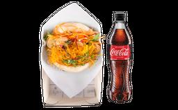 🍔Bao Crunchy de Camarón + Coca-Cola