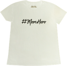 CAMISETA #MOMHERO MAMA BLANCO