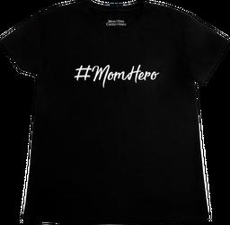 CAMISETA #MOMHERO MAMA NEGRO