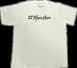 CAMISETA #MOMHERO NIÑOS BLANCO