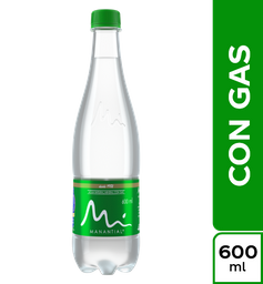 Agua Con Gas 600 ml.