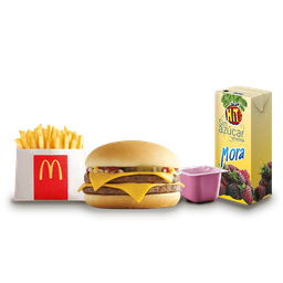 👶🏻 Junior pack hamburguesa doble con queso