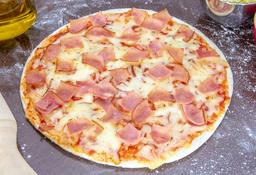 Pizza Jamón y Queso + Bebida Gratis
