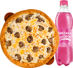 🍕Pizza personal + Gaseosa de 400 ml