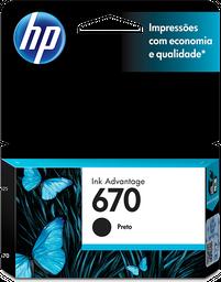 Cartucho de tinta HP 670 Original Negro CZ113AL