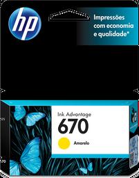 Cartucho de tinta HP 670 Amarillo Original CZ116AL.