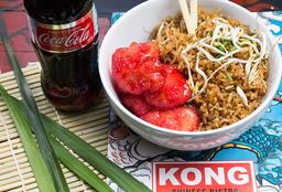 🍛Kong Bowl Pollo Teriyaki + Arroz al Wok + Coca-Cola