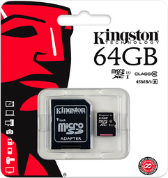 Memoria Micro Sd Kingston 64gb Clase 10